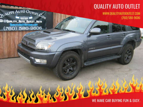 2005 Toyota 4Runner for sale at Quality Auto Outlet in Vista CA