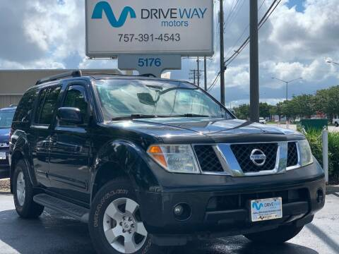 2005 Nissan Pathfinder for sale at Driveway Motors in Virginia Beach VA