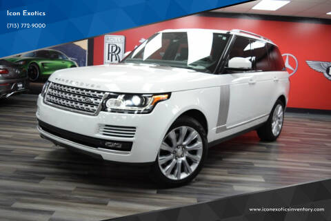 2015 Land Rover Range Rover for sale at Icon Exotics in Houston TX