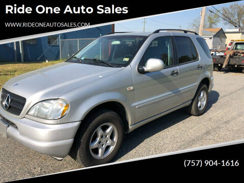2000 Mercedes-Benz M-Class for sale at Ride One Auto Sales in Norfolk VA