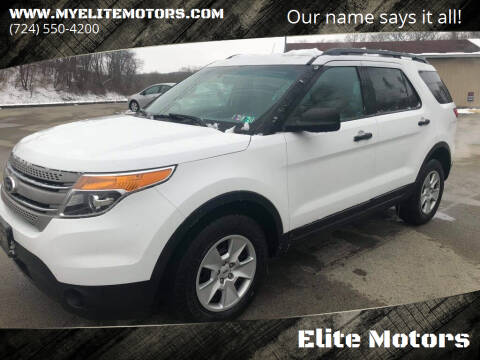 2014 Ford Explorer for sale at Elite Motors in Uniontown PA