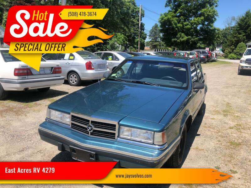 1993 Dodge Dynasty for sale at East Acres RV 4279 in Mendon MA