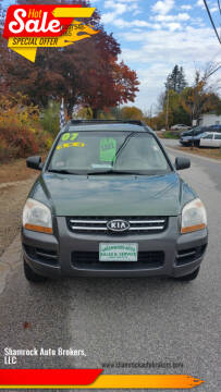 2007 Kia Sportage for sale at Shamrock Auto Brokers, LLC in Belmont NH