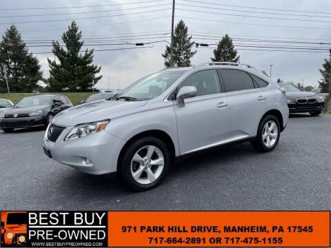 2012 Lexus RX 350 for sale at Best Buy Pre-Owned in Manheim PA
