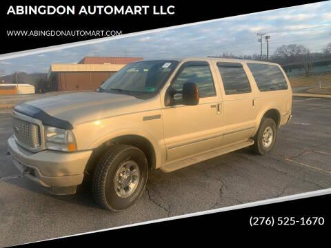 2004 Ford Excursion for sale at ABINGDON AUTOMART LLC in Abingdon VA