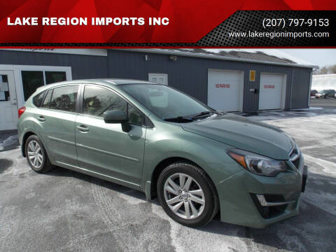2016 Subaru Impreza for sale at LAKE REGION IMPORTS INC in Westbrook ME
