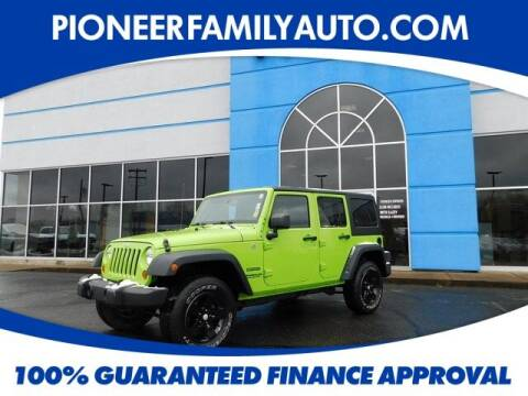 2013 Jeep Wrangler Unlimited for sale at Pioneer Family auto in Marietta OH
