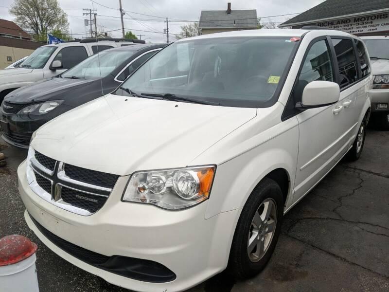2012 Dodge Grand Caravan for sale at Richland Motors in Cleveland OH