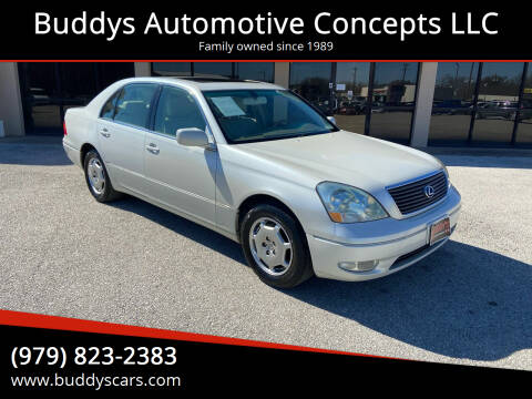 2002 Lexus LS 430 for sale at Buddys Automotive Concepts LLC in Bryan TX