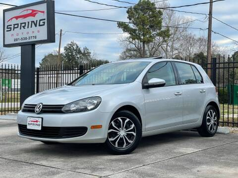 2011 Volkswagen Golf for sale at Spring Motors in Spring TX