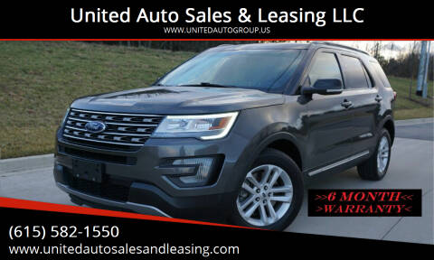 2017 Ford Explorer for sale at United Auto Sales & Leasing LLC in La Vergne TN