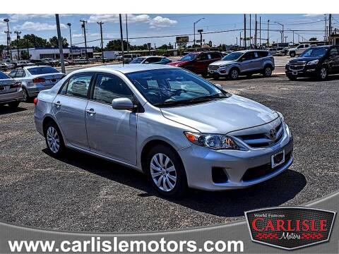 2012 Toyota Corolla for sale at Carlisle Motors in Lubbock TX