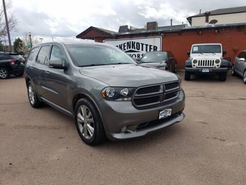 2012 Dodge Durango for sale at BERKENKOTTER MOTORS in Brighton CO