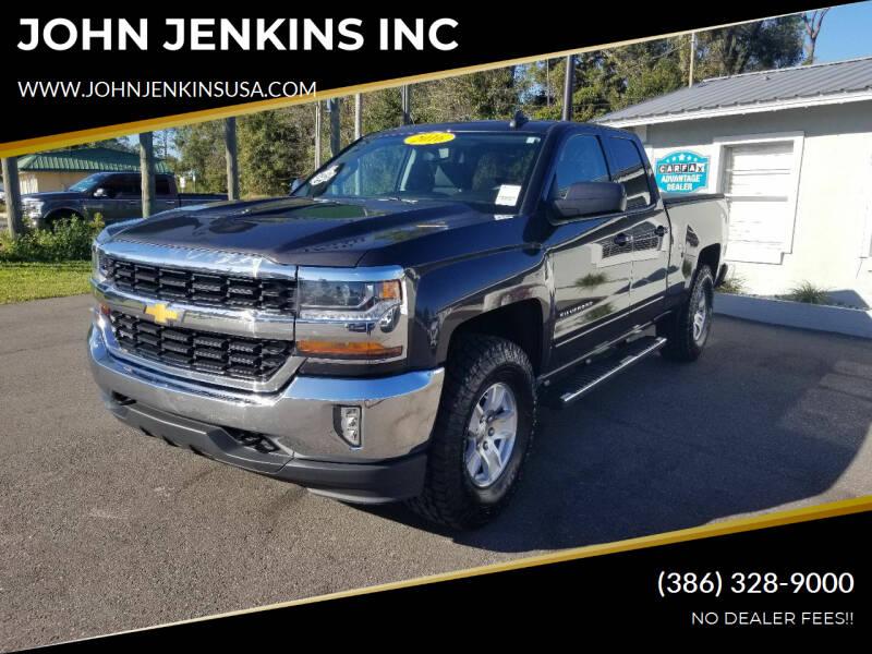 2016 Chevrolet Silverado 1500 for sale at JOHN JENKINS INC in Palatka FL