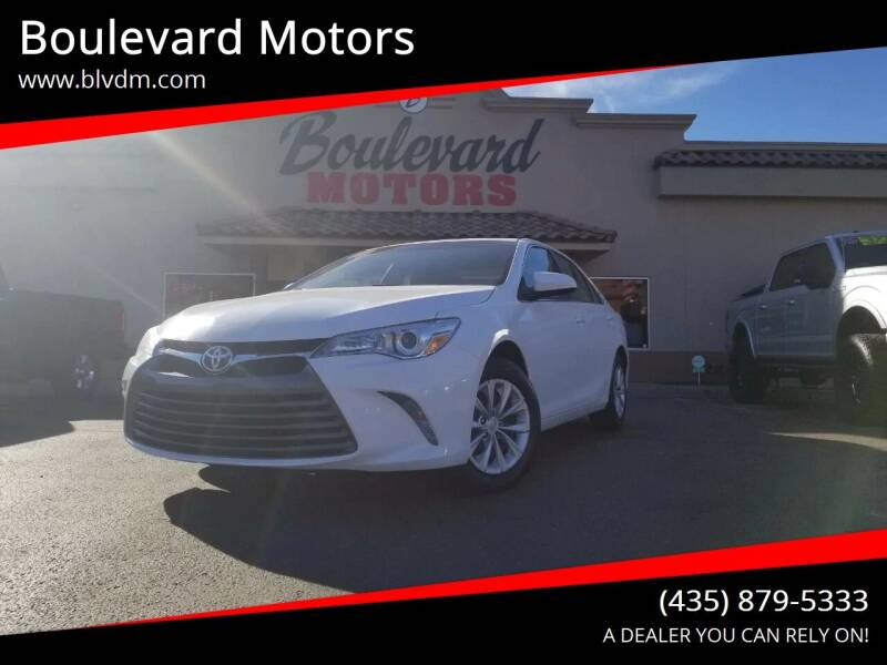 2016 Toyota Camry for sale at Boulevard Motors in St George UT
