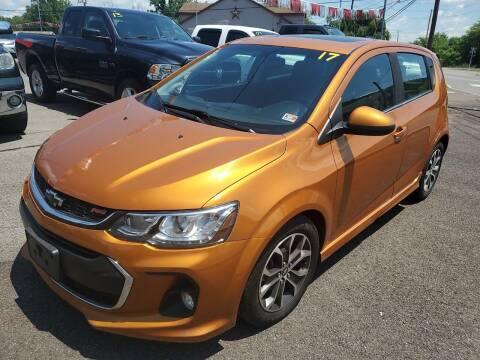 2017 Chevrolet Sonic for sale at Mulligan's Auto Exchange LLC in Paxinos PA