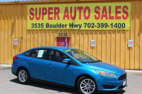 2015 Ford Focus for sale at Super Auto Sales in Las Vegas NV