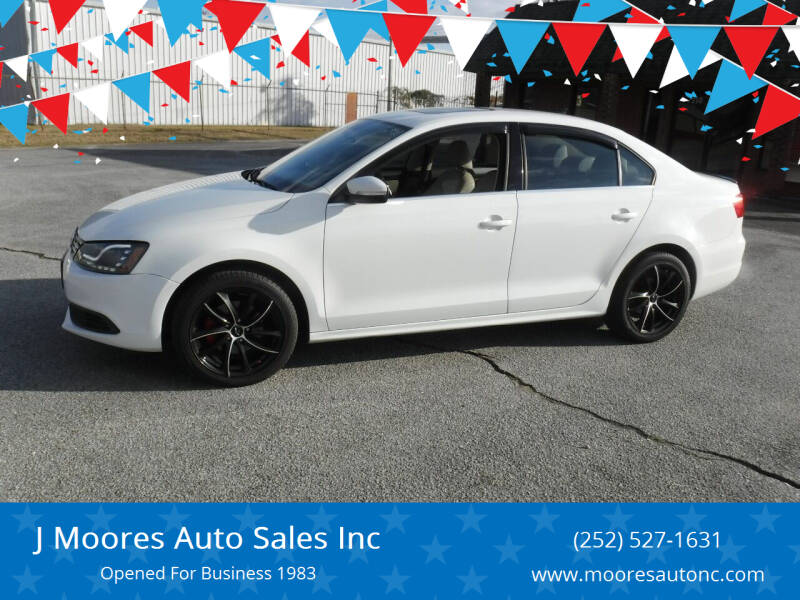 2014 Volkswagen Jetta for sale at J Moores Auto Sales Inc in Kinston NC