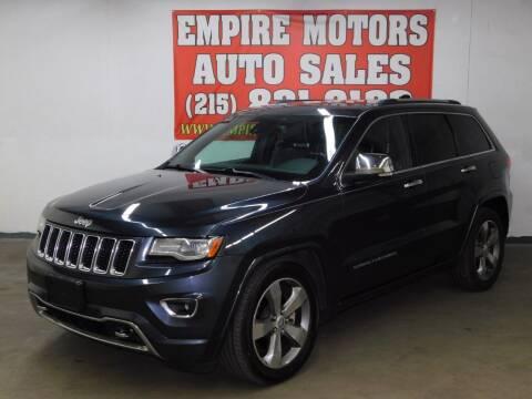 2014 Jeep Grand Cherokee for sale at EMPIRE MOTORS AUTO SALES in Philadelphia PA