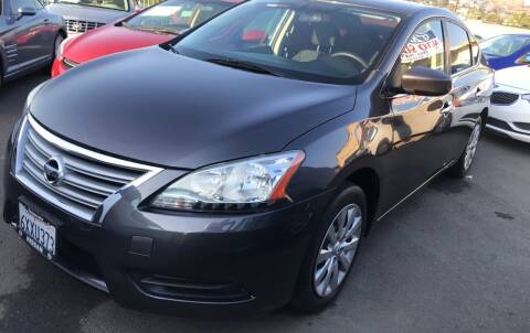 2013 Nissan Sentra for sale at GRAND AUTO SALES - CALL or TEXT us at 619-503-3657 in Spring Valley CA