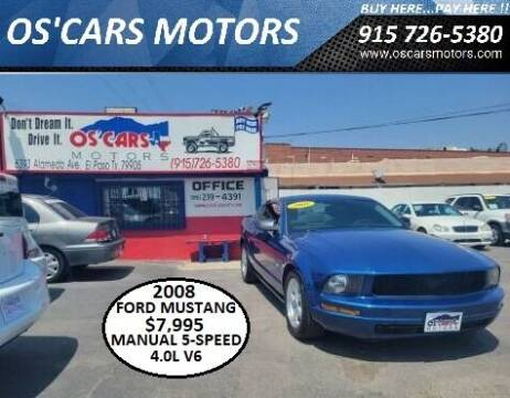 2008 Ford Mustang for sale at Os'Cars Motors in El Paso TX