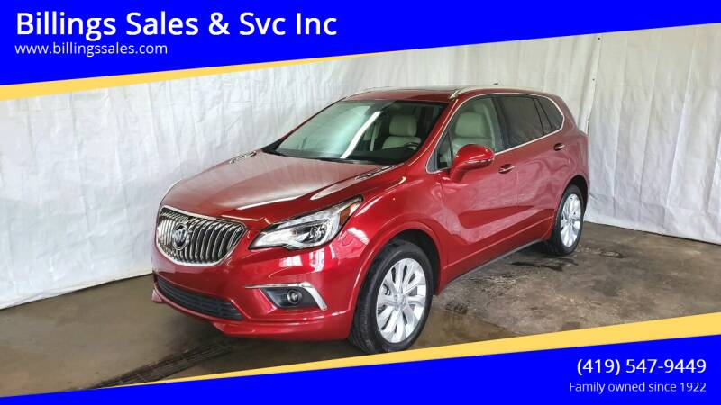 2017 Buick Envision for sale at Billings Sales & Svc Inc in Clyde OH