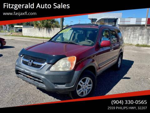 2003 Honda CR-V for sale at Fitzgerald Auto Sales in Jacksonville FL