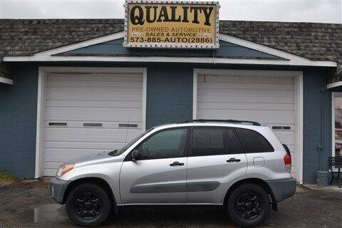 2001 Toyota RAV4 for sale at Quality Pre-Owned Automotive in Cuba MO