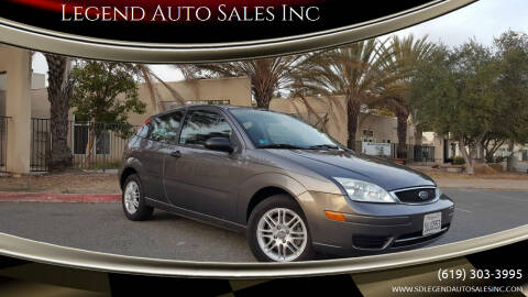 2006 Ford Focus for sale at Legend Auto Sales Inc in Lemon Grove CA
