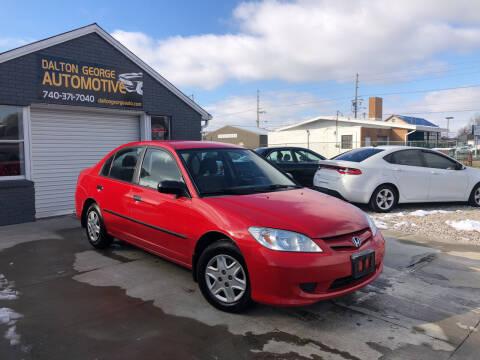 2005 Honda Civic for sale at Dalton George Automotive in Marietta OH