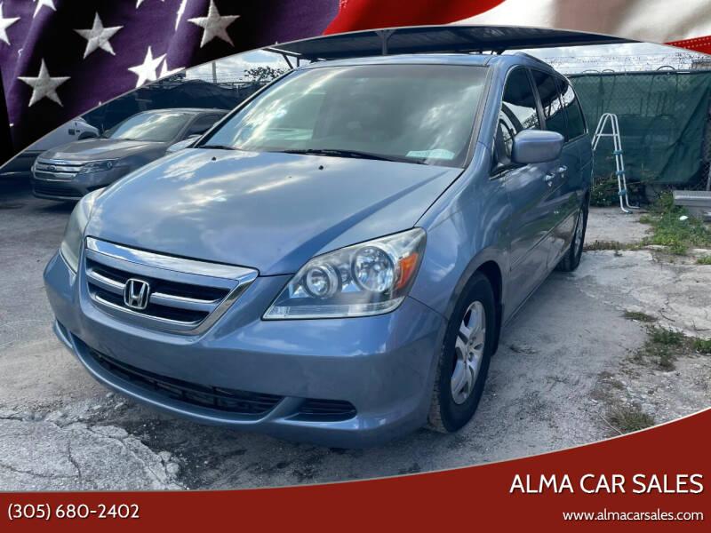 2007 Honda Odyssey for sale at Alma Car Sales in Miami FL