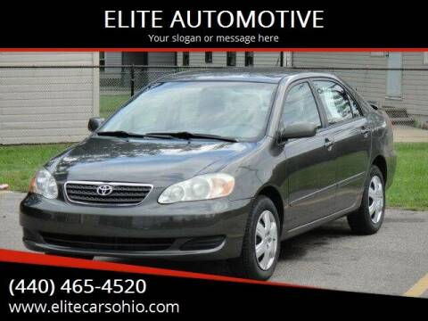 2007 Toyota Corolla for sale at ELITE CARS OHIO LLC in Solon OH