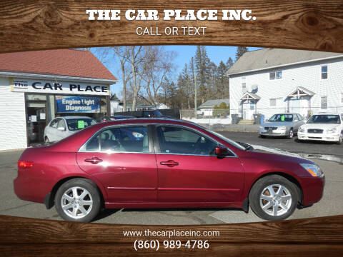 2005 Honda Accord for sale at THE CAR PLACE INC. in Somersville CT