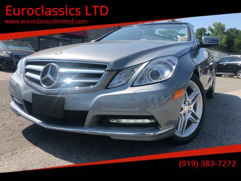 2012 Mercedes-Benz E-Class for sale at Euroclassics LTD in Durham NC
