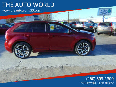 2013 Ford Edge for sale at THE AUTO WORLD in Churubusco IN