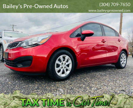 2014 Kia Rio for sale at Bailey's Pre-Owned Autos in Anmoore WV