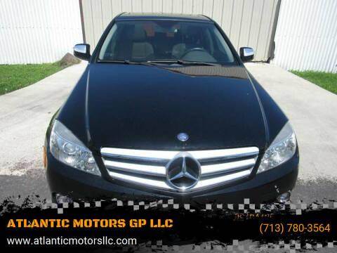 2009 Mercedes-Benz C-Class for sale at ATLANTIC MOTORS GP LLC in Houston TX
