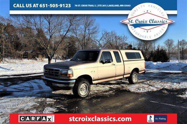 1992 Ford F-150 for sale at St. Croix Classics in Lakeland MN