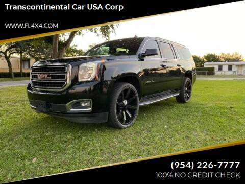 2015 GMC Yukon XL for sale at Transcontinental Car USA Corp in Fort Lauderdale FL