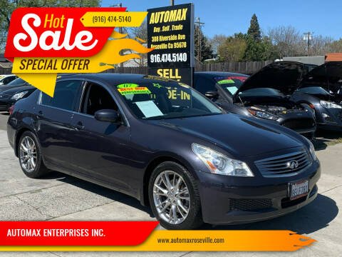 2007 Infiniti G35 for sale at AUTOMAX ENTERPRISES INC. in Roseville CA