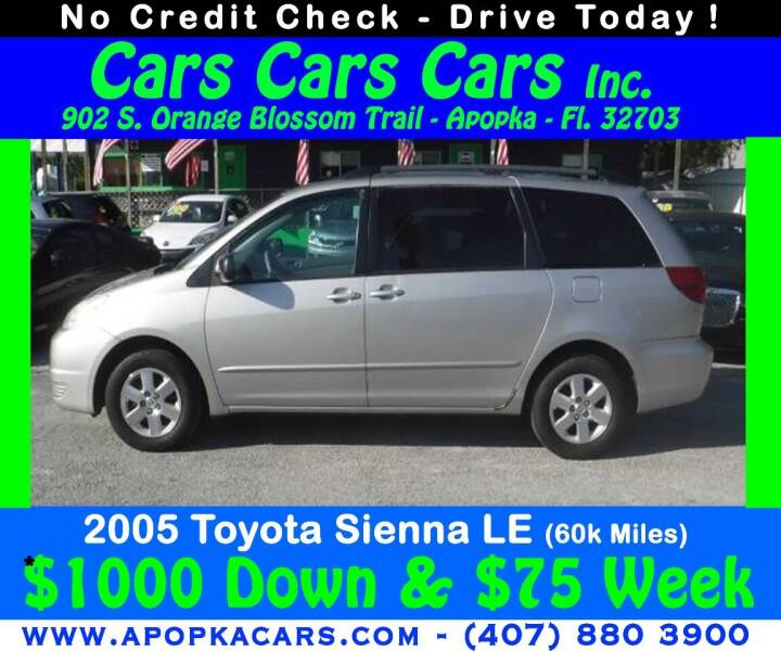 2005 Toyota Sienna for sale at CARS CARS CARS INC in Apopka FL
