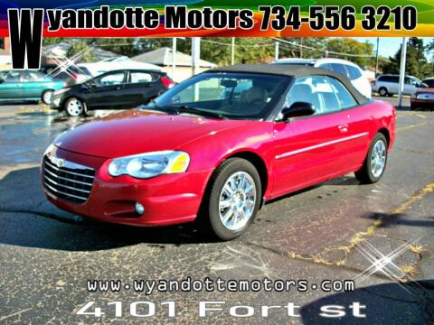 2006 Chrysler Sebring for sale at Wyandotte Motors in Wyandotte MI