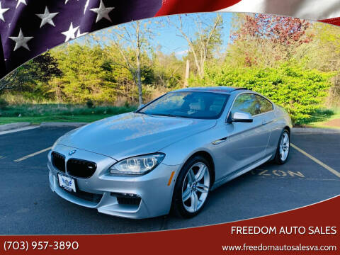 2012 BMW 6 Series for sale at Freedom Auto Sales in Chantilly VA