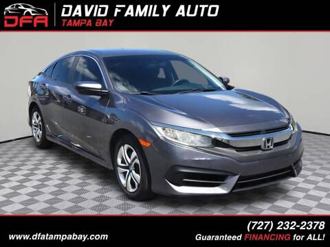2016 Honda Civic for sale at David Family Auto in New Port Richey FL