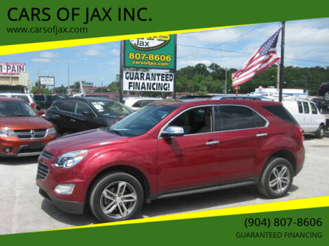 2016 Chevrolet Equinox for sale at CARS OF JAX INC. in Jacksonville FL