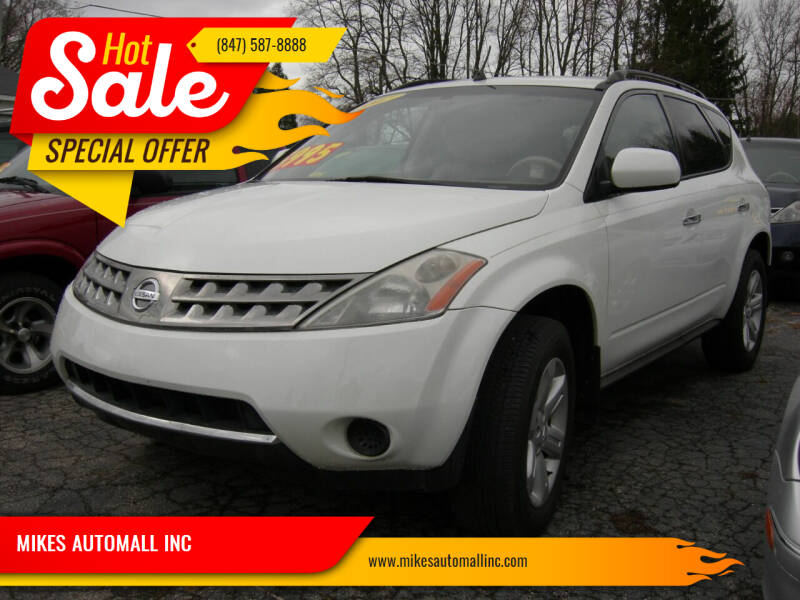 2007 Nissan Murano for sale at MIKES AUTOMALL INC in Ingleside IL