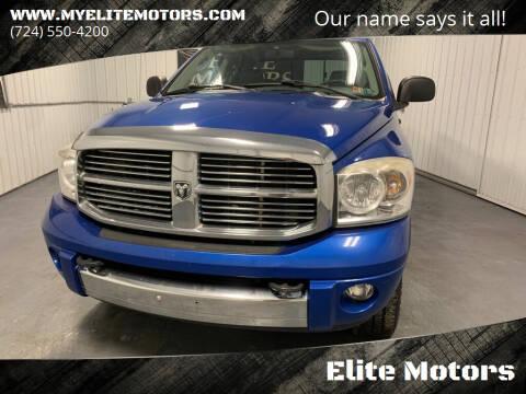 2007 Dodge Ram Pickup 2500 for sale at Elite Motors in Uniontown PA