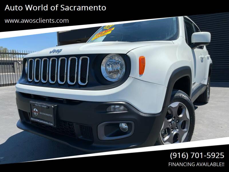 2017 Jeep Renegade for sale at Auto World of Sacramento Stockton Blvd in Sacramento CA