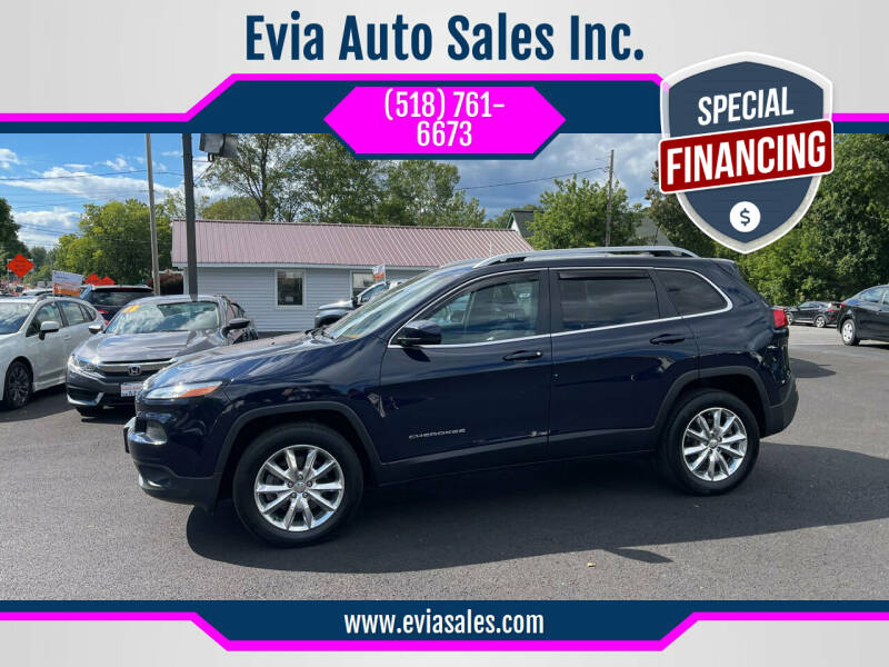 2016 Jeep Cherokee for sale at Evia Auto Sales Inc. in Glens Falls NY