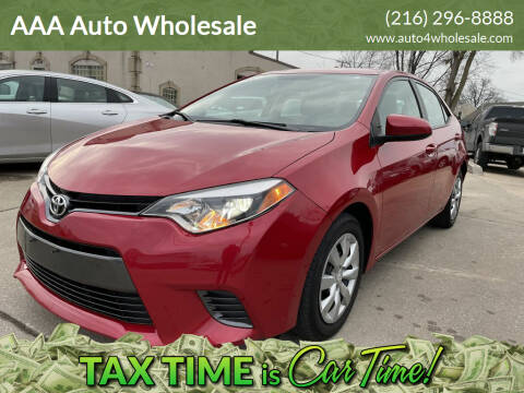 2015 Toyota Corolla for sale at AAA Auto Wholesale in Parma OH